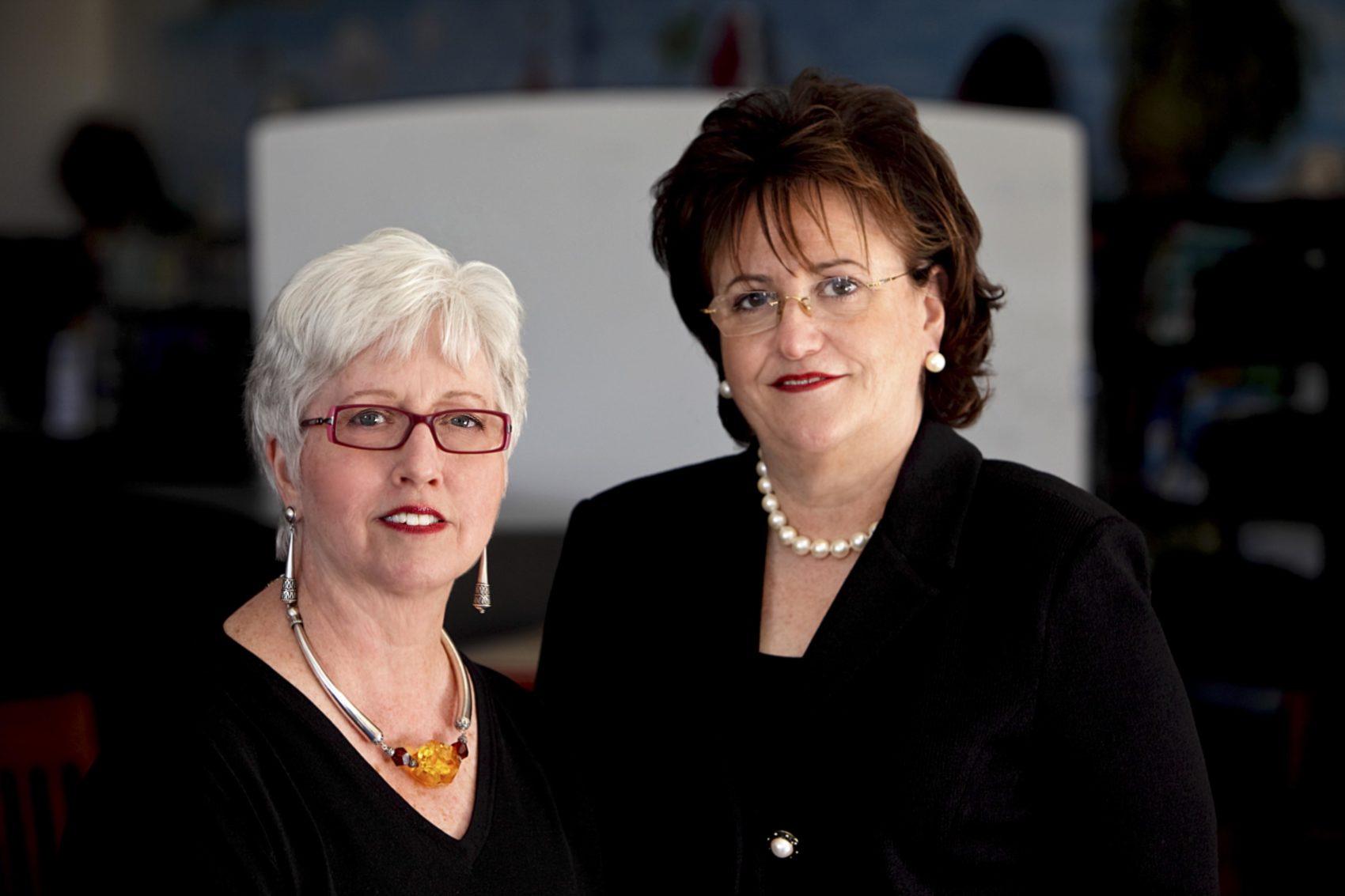 Professional portrait of two women